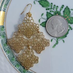 Floral Gold Filigree Boho Earrings